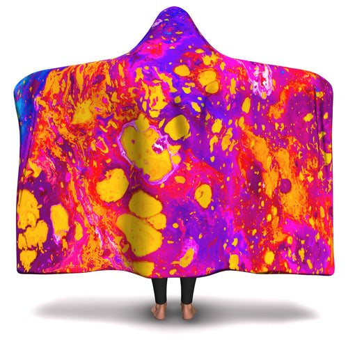 Abstract Paint Hooded Blanket