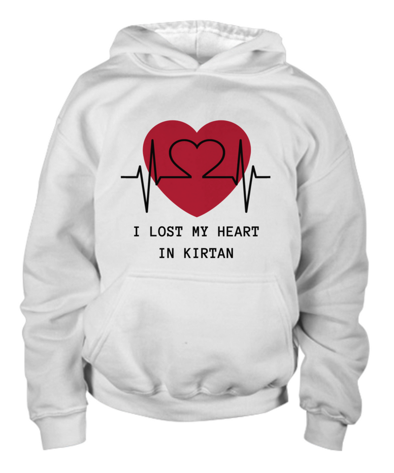 Lost My Heart in Kirtan White Hoodie/Shirt