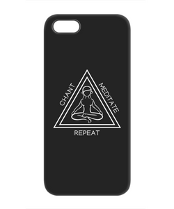 Chant Meditate Repeat Dark Phone Case