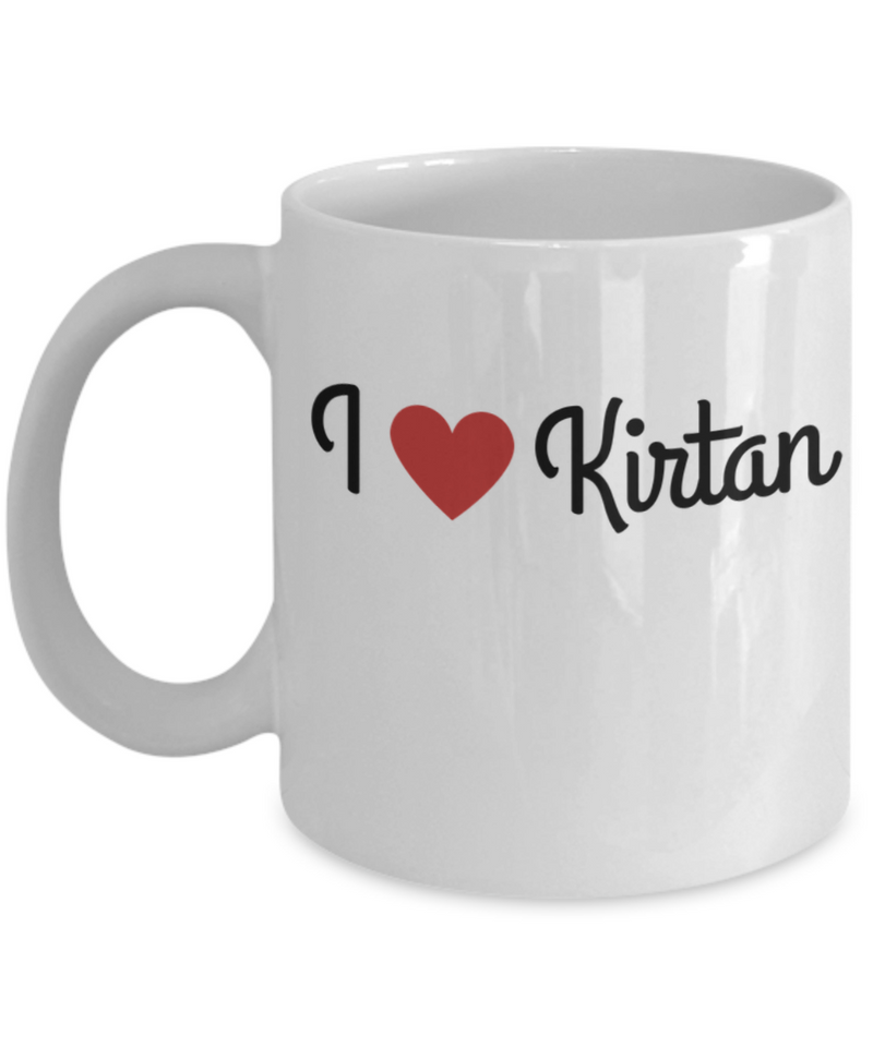 I Love Kirtan White Mug