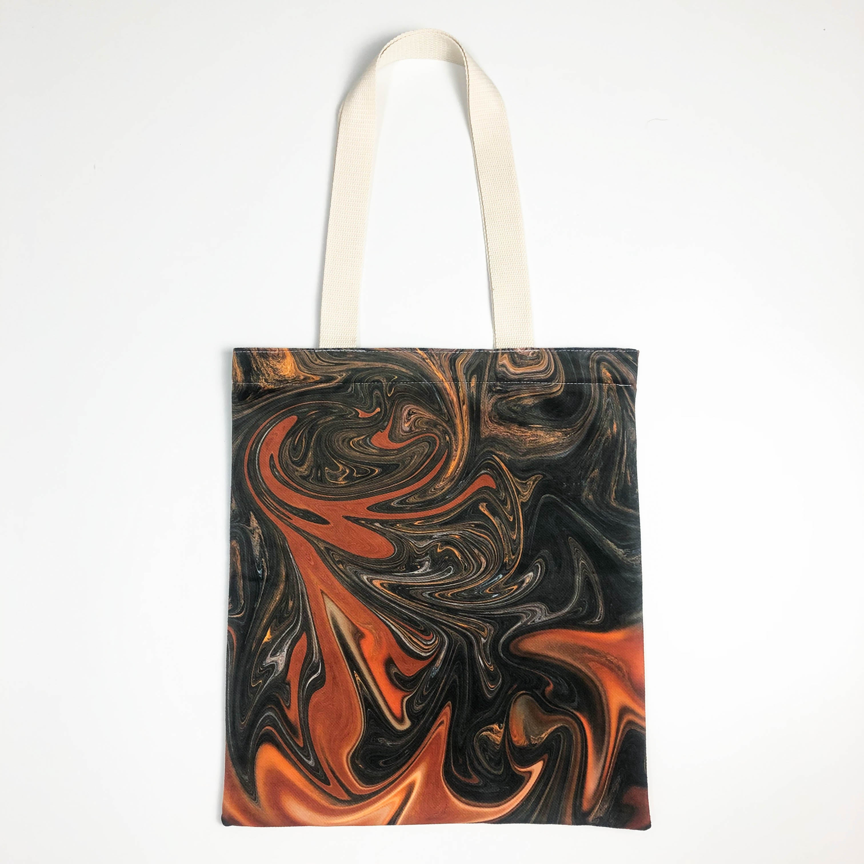 Autumn Forest Flow Canvas Tote Bag