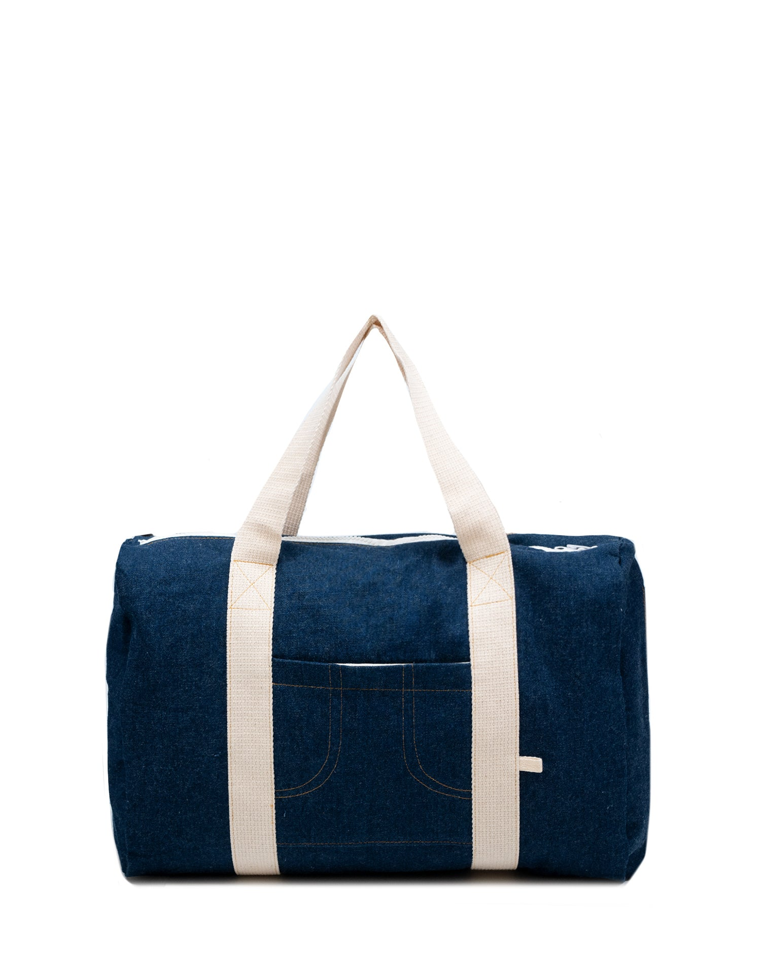 Denim Chic Canvas Street Duffel Bag.牛仔帆布行李袋