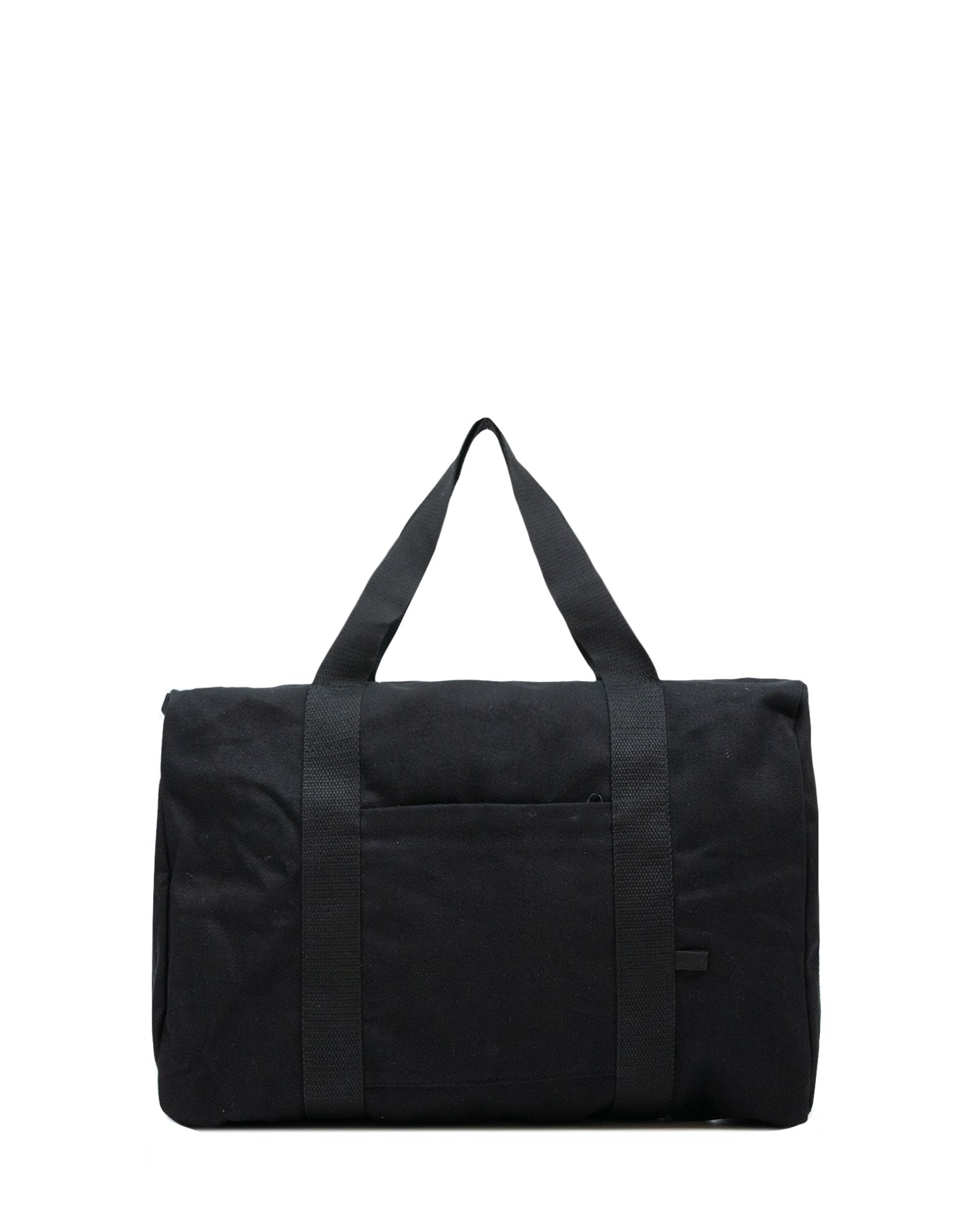 Black Canvas Street Duffel Bag.黑色帆布行李袋