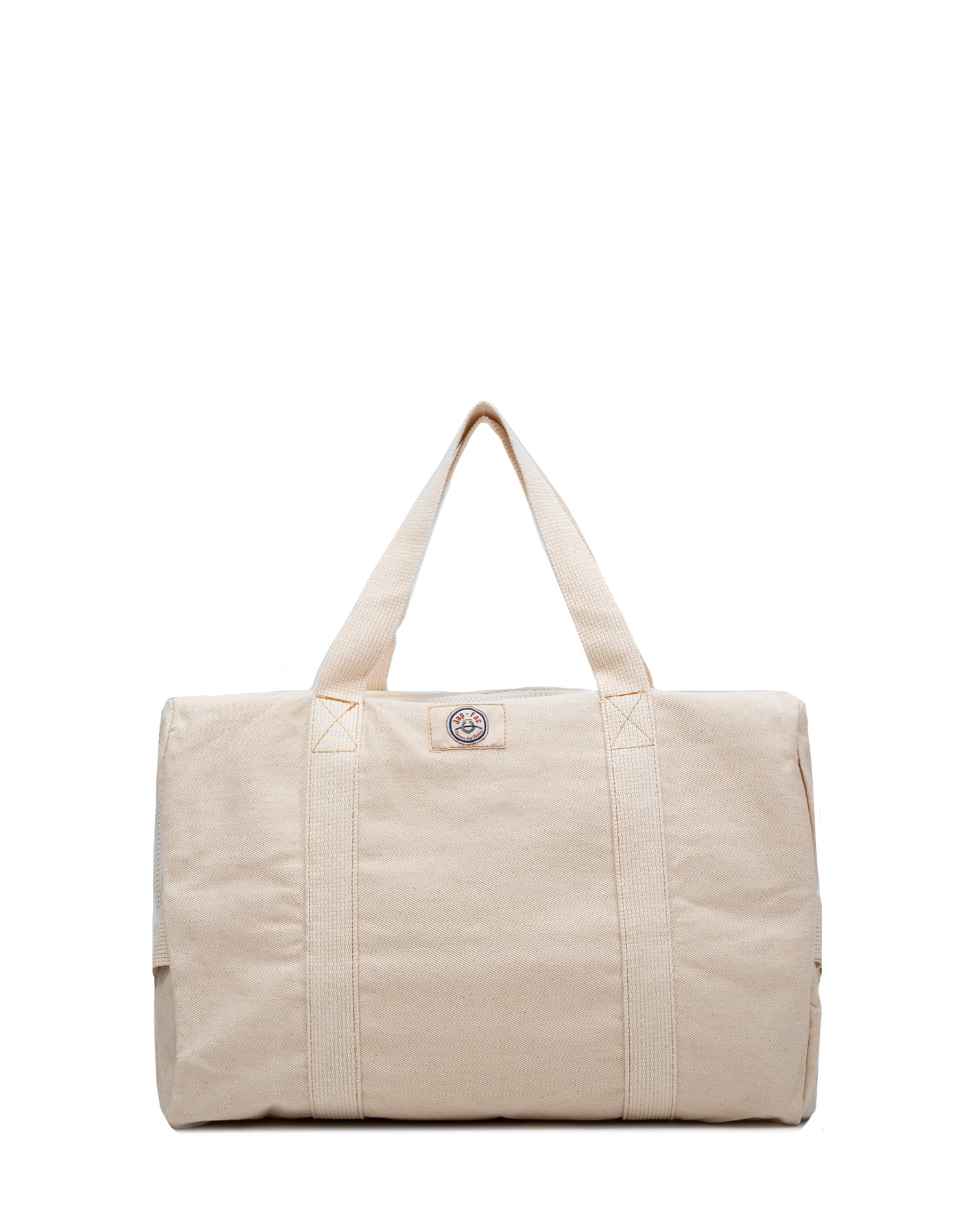 White Canvas Street Duffel Bag.白色帆布行李袋