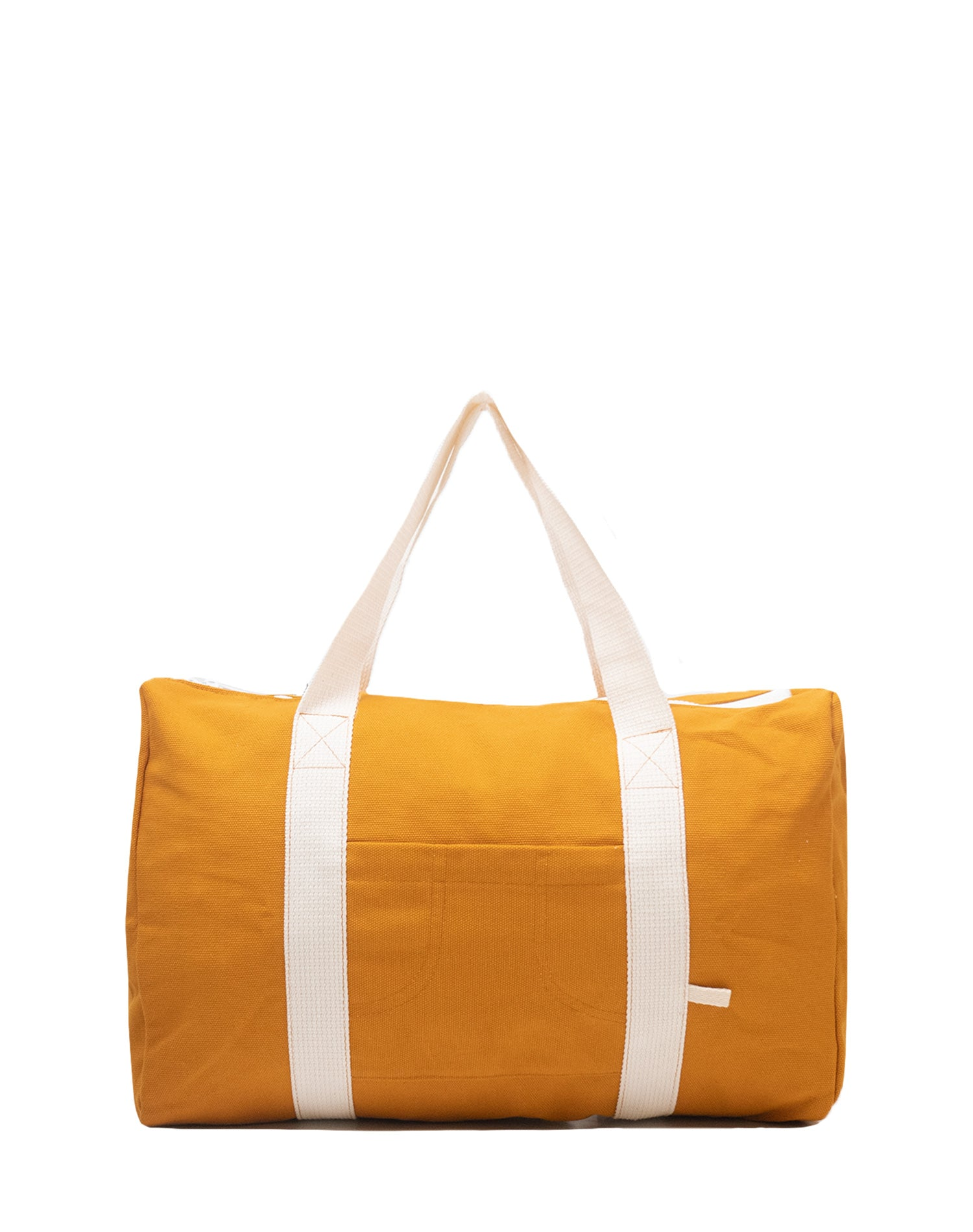 Yellow Mustard Canvas Street Duffel Bag.黃色帆布行李袋
