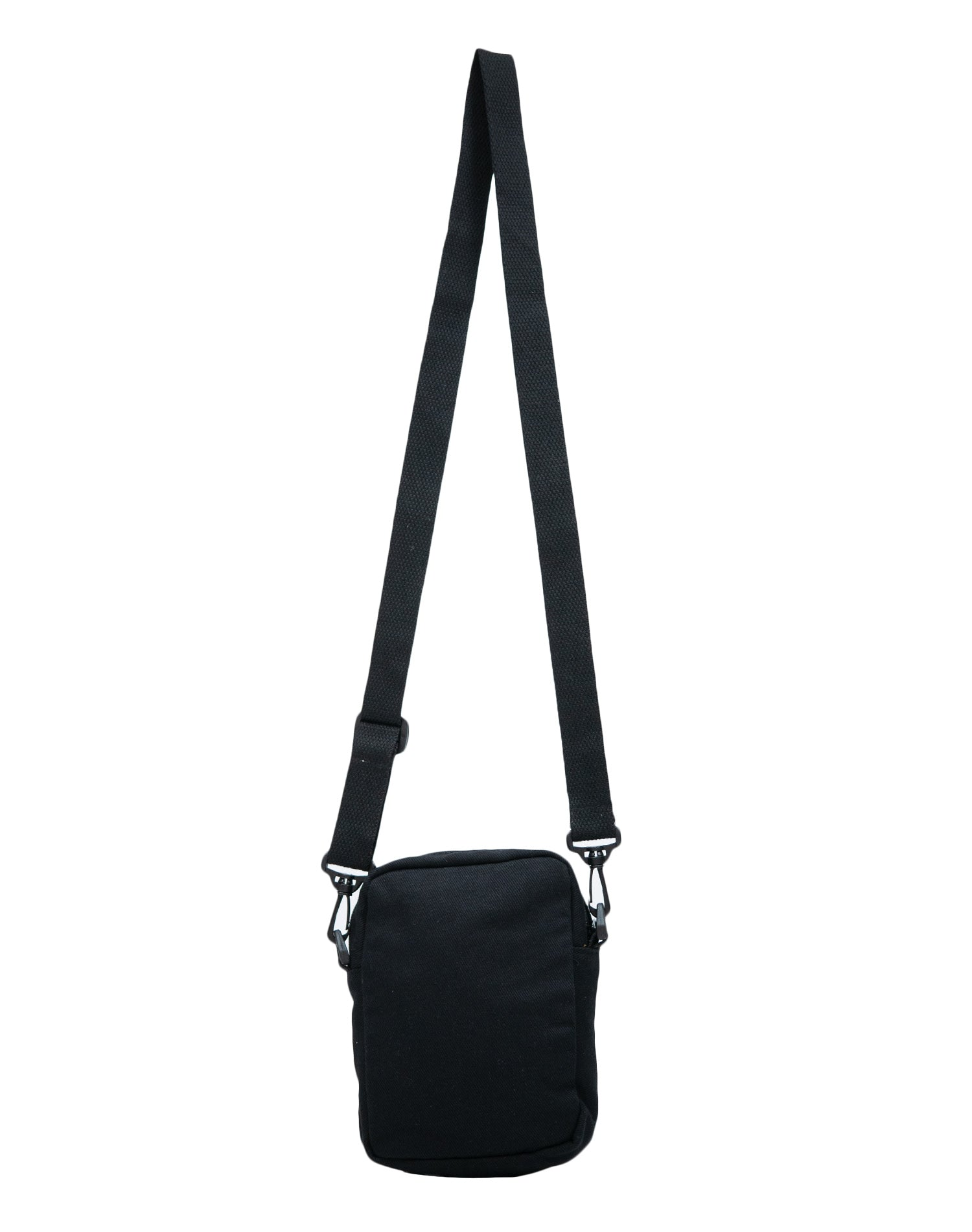 Black Sunny Canvas Mini Square Shoulder Bag.黑色帆布迷你方形單肩斜挎袋