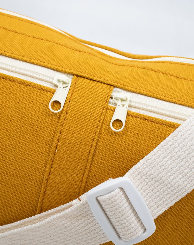 Mustard Yellow Canvas Belt Sling Bag.黃色帆布斜揹腰包