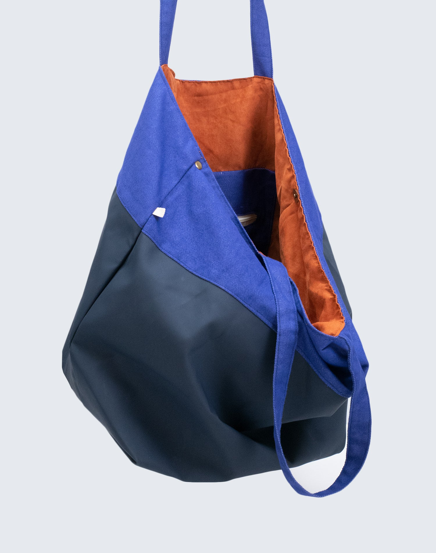 Big Ocean Blue Tote Bag.海藍色大容量側背袋