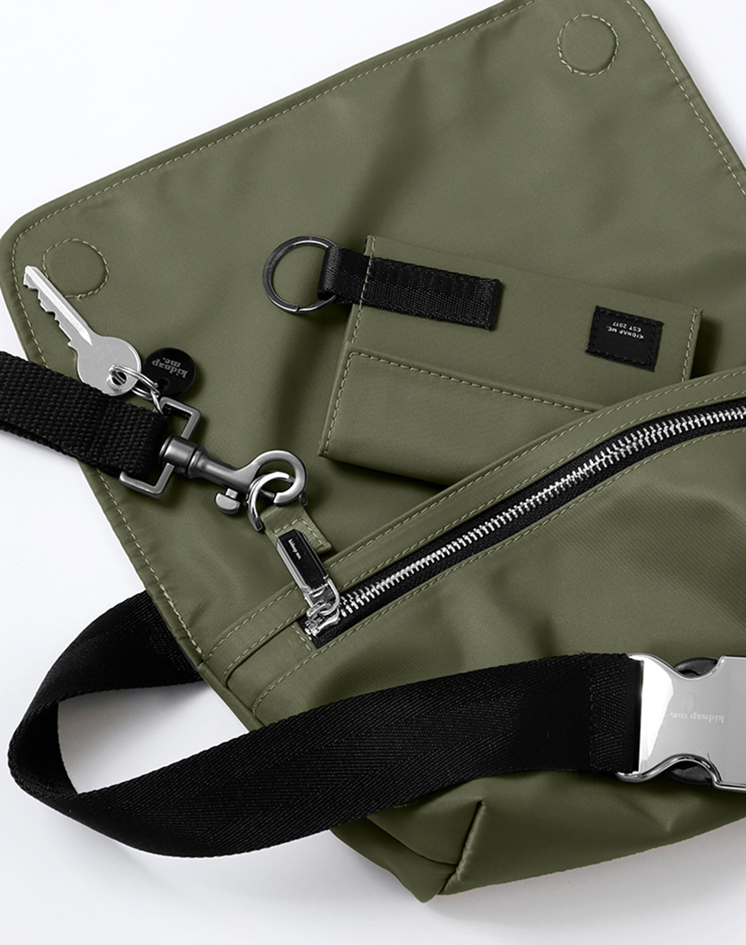 Forest Nylon Belt Sling Bag.森林系尼龍斜揹腰包