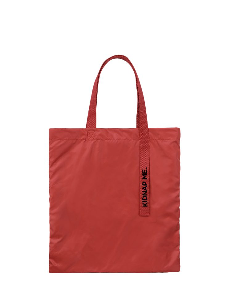 Red Nylon Tote Bag.紅色尼龍側背袋