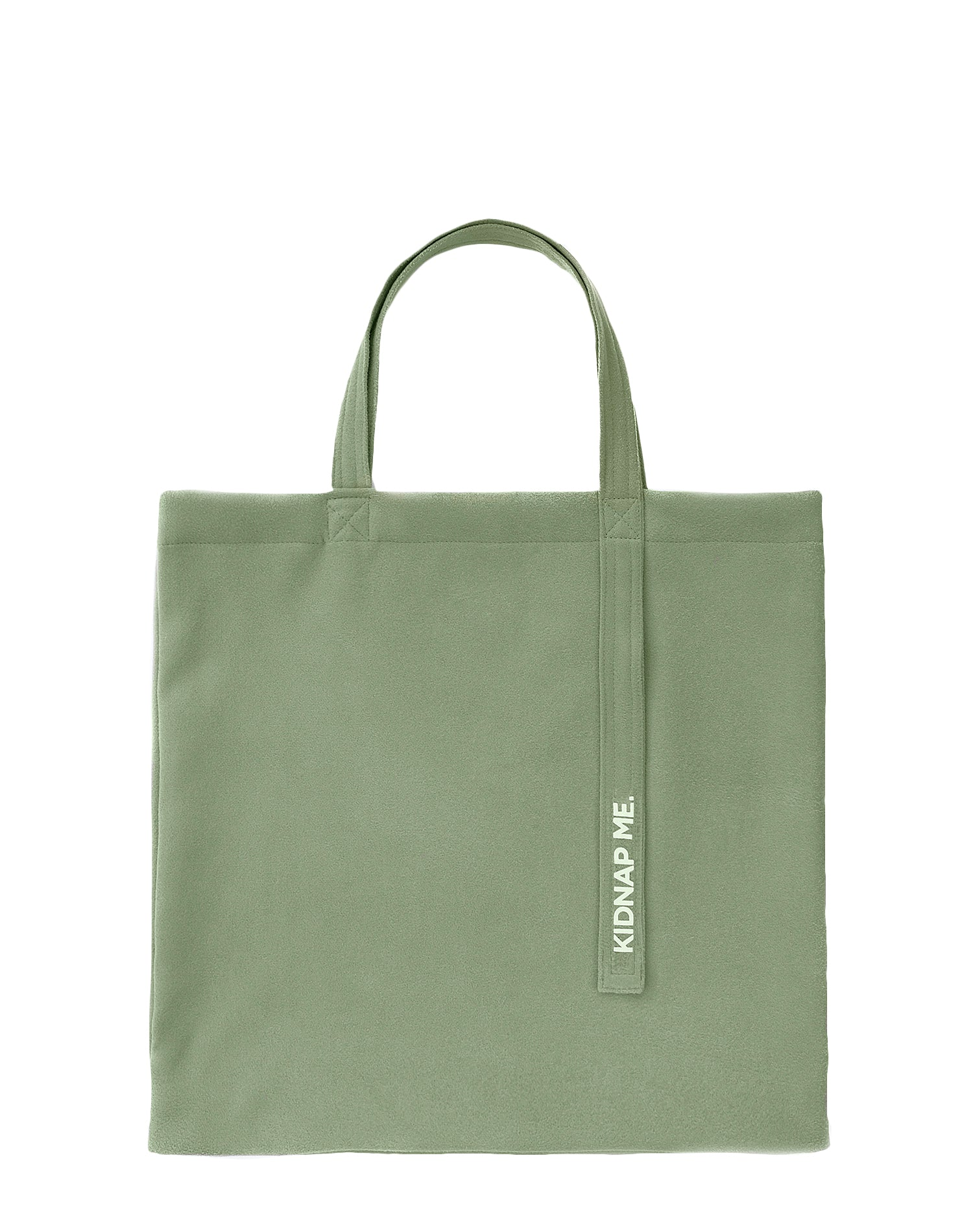 Green Flannel Tote Bag.綠色法蘭絨側背袋