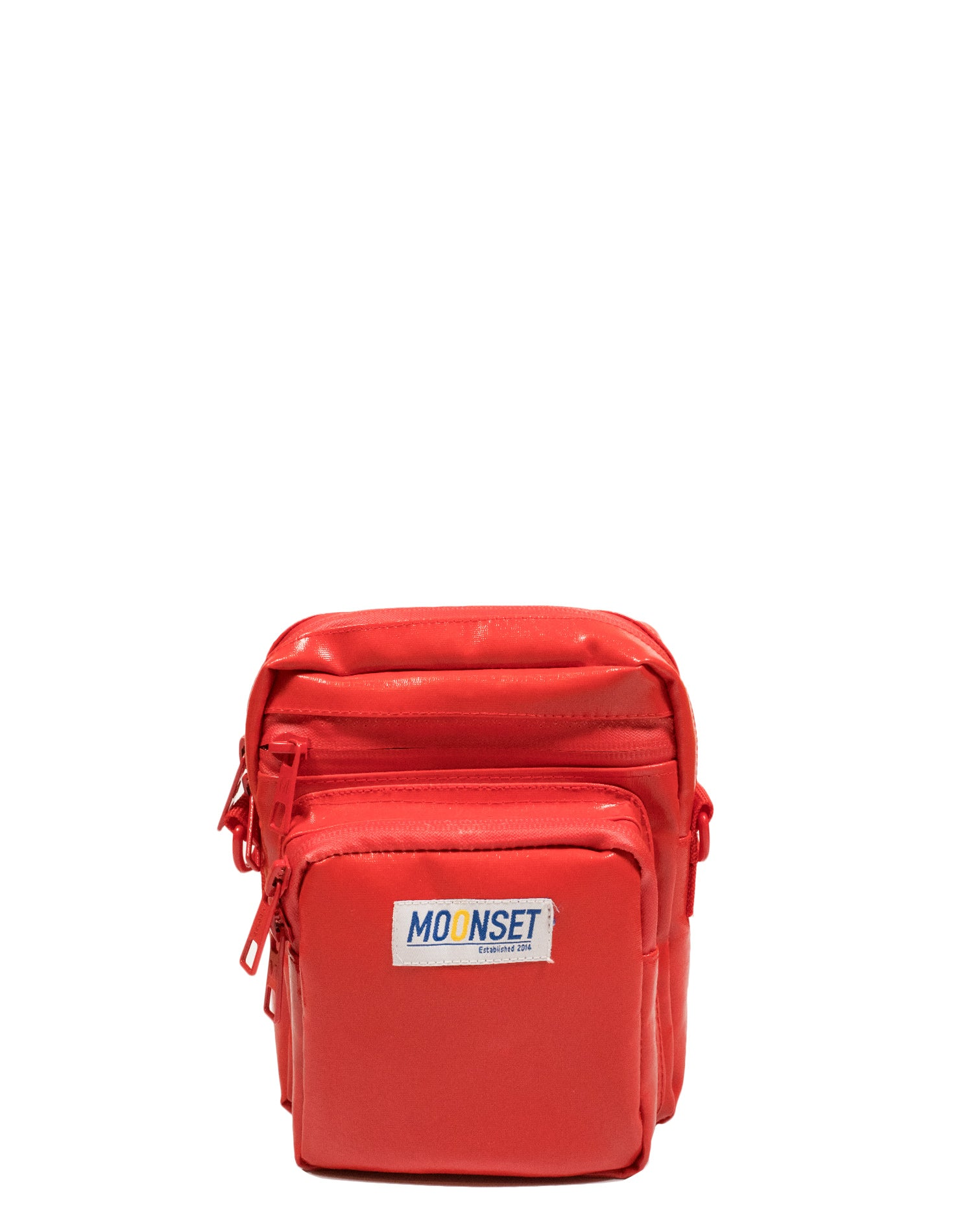 Fire Engine Red Tarpaulin Canvas Shoulder Bag.紅色防水帆布斜孭袋