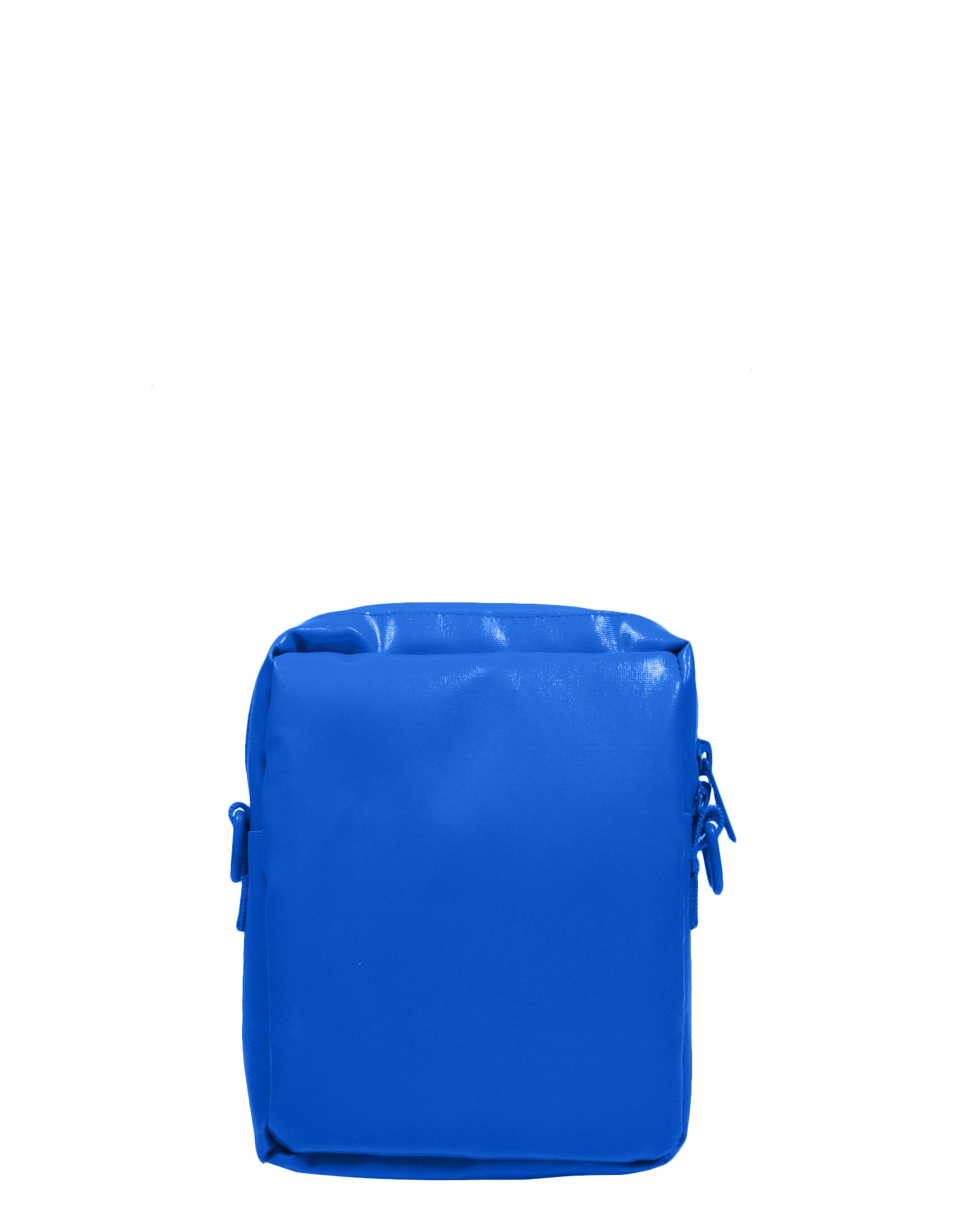 Electric Blue Tarpaulin Canvas Shoulder Bag.藍色防水帆布斜孭袋
