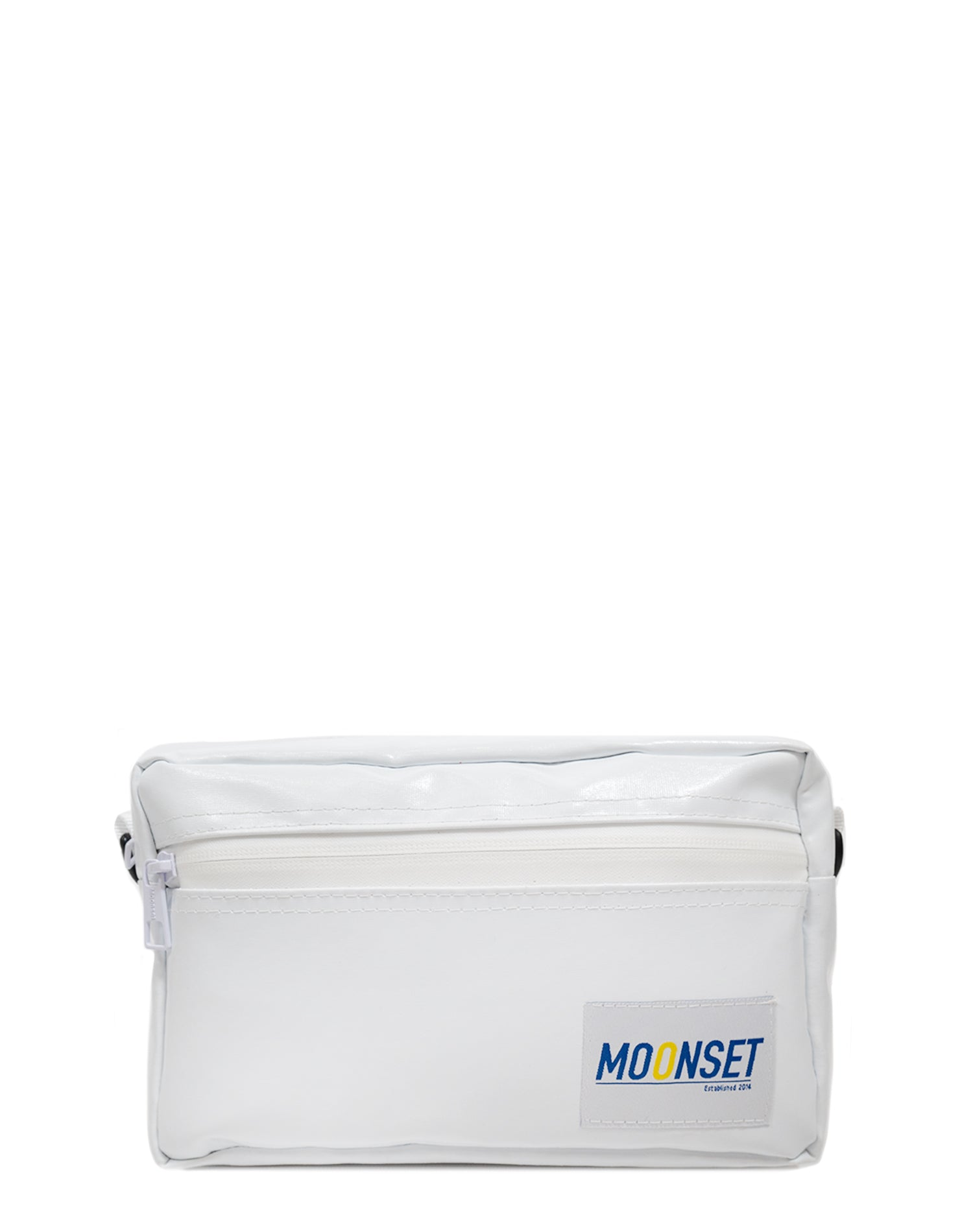 White Waterproof Shoulder Bag.白色防水單肩斜挎袋