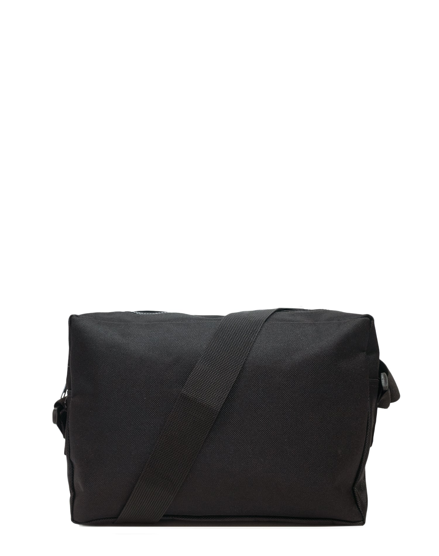 Black Canvas Shoulder Bag.黑色帆布斜揹袋