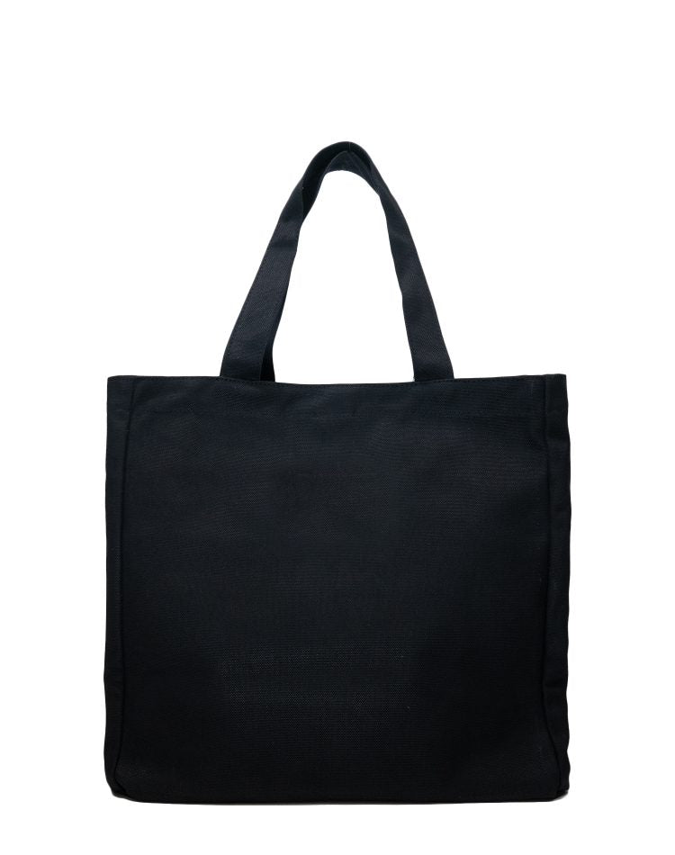 Black Basic Canvas Tote Bag.黑色帆布側背袋