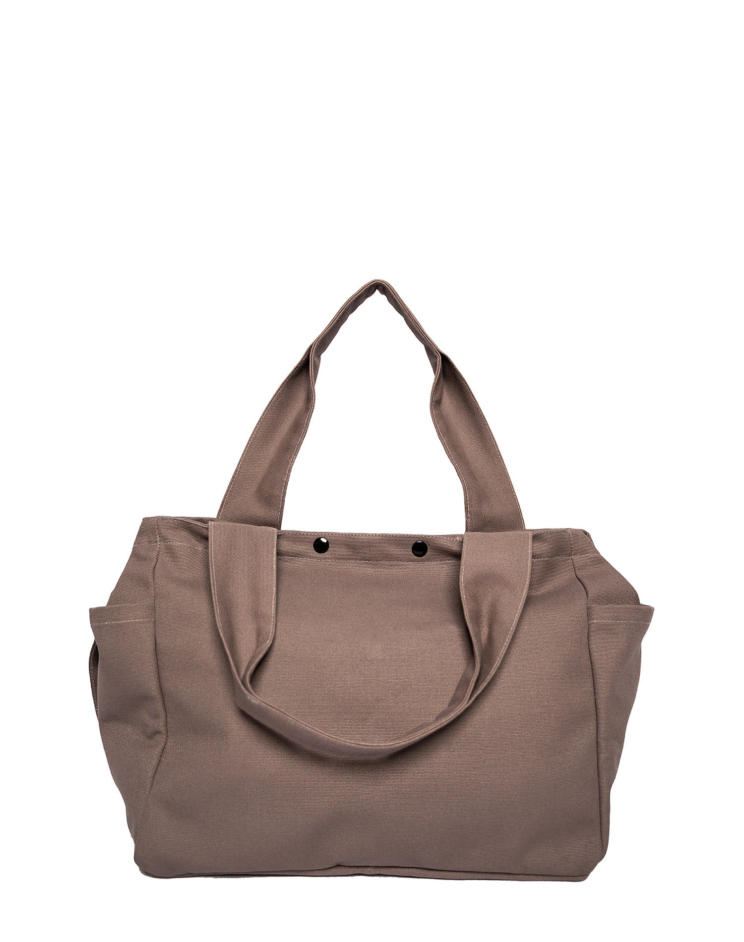 Dark Grey Square Canvas Tote Bag.深灰色方形帆布側背袋