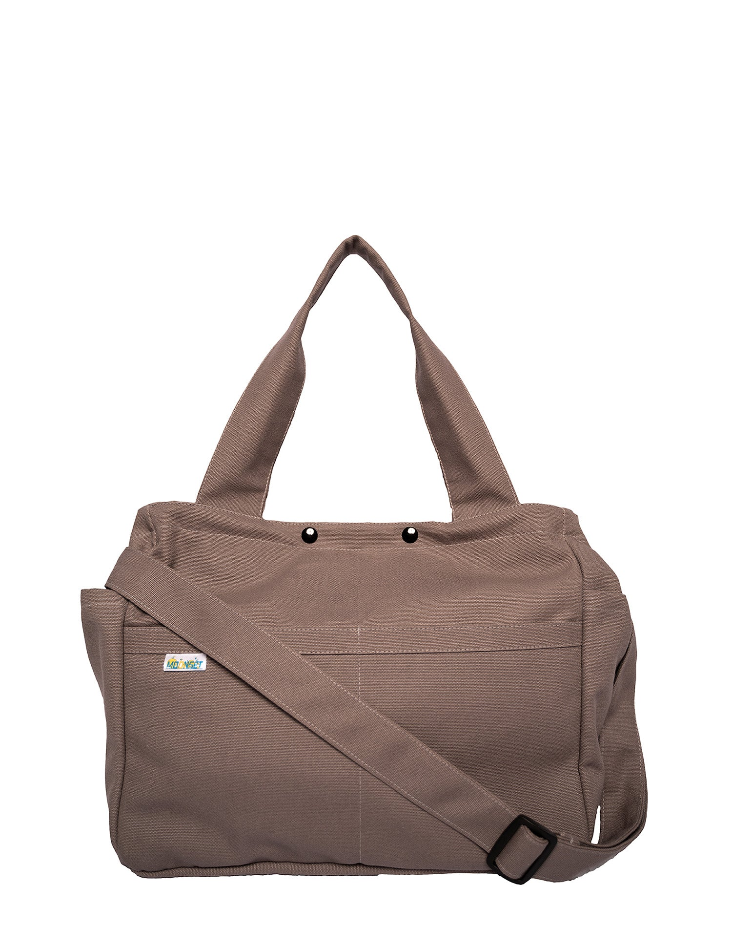 Dark Grey Square Canvas Tote Bag.深灰色方形帆布側孭袋