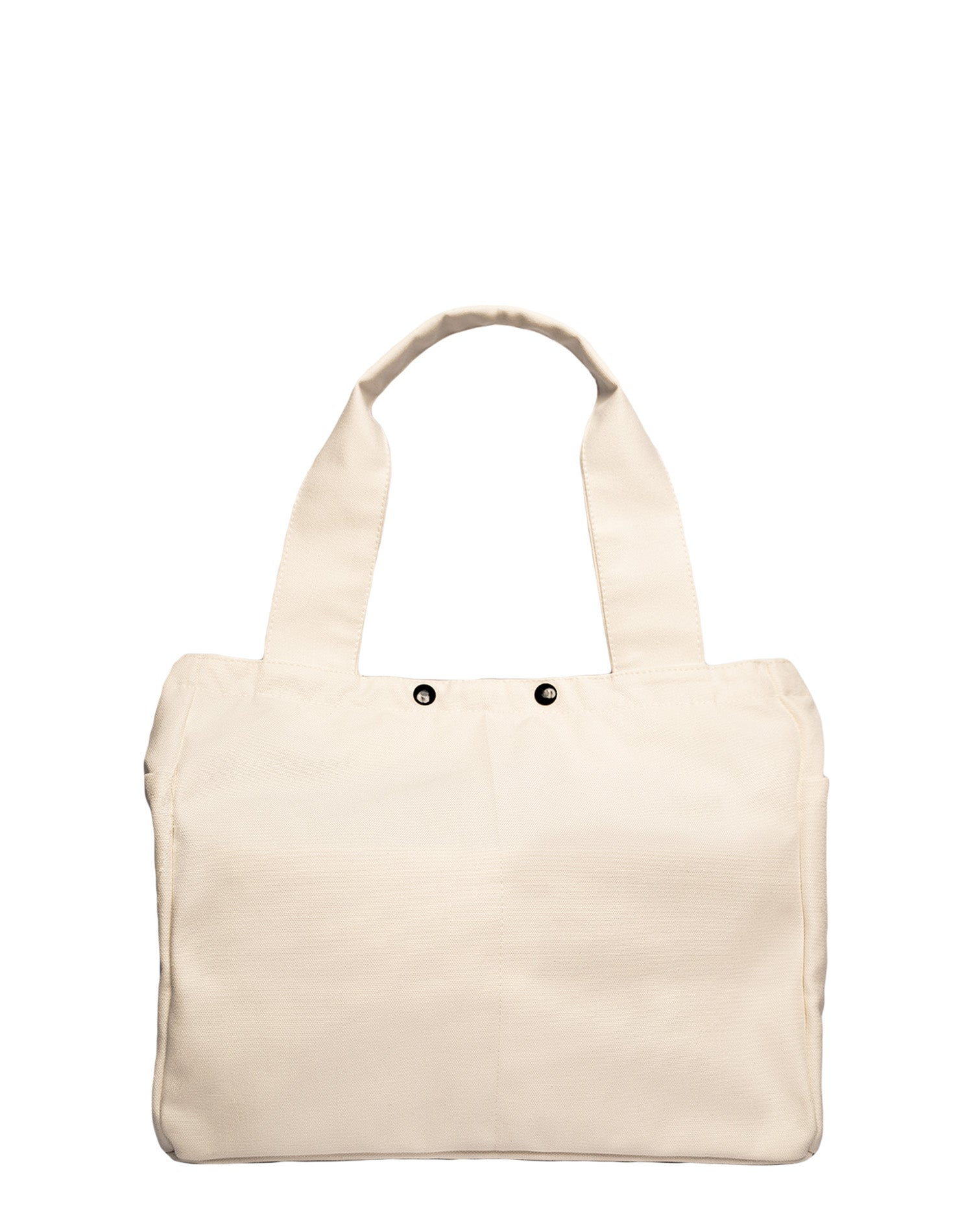 White Square Canvas Tote Bag.白色方形帆布側背袋