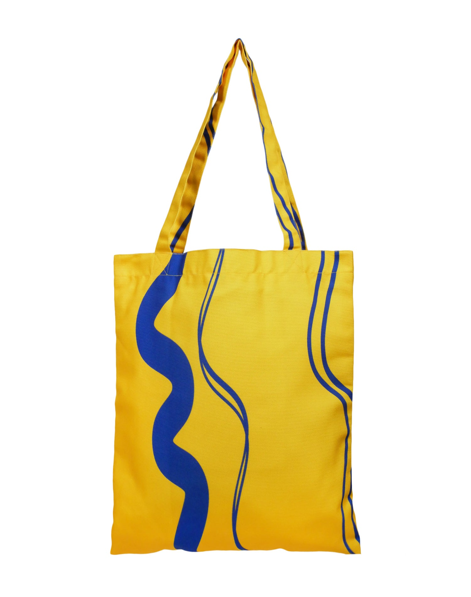 Tickled Yellow Canvas Tote Bag.黃色帆布側背袋
