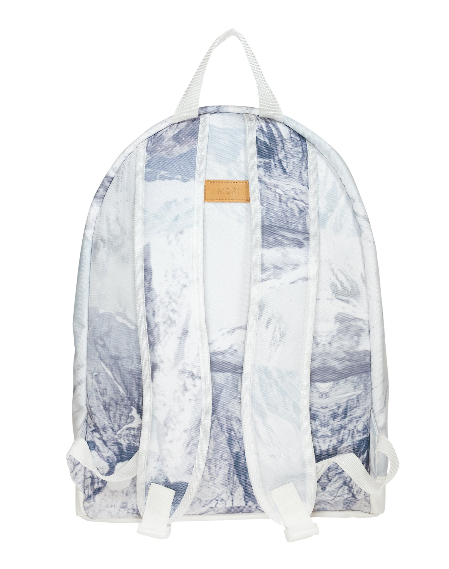 Alpine Peaks Cotton Canvas Backpack.高山圖案棉帆布背囊