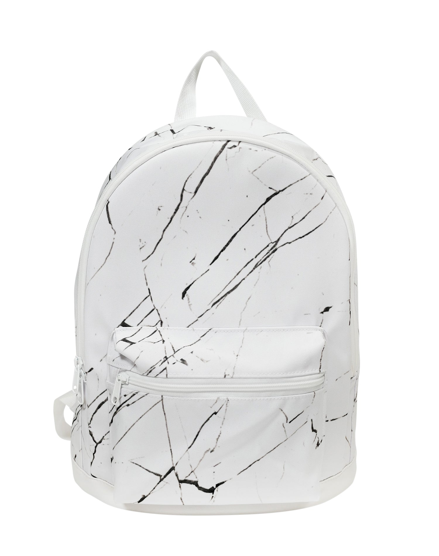 White Marble Cotton Canvas Backpack.白色大理石棉帆布背囊