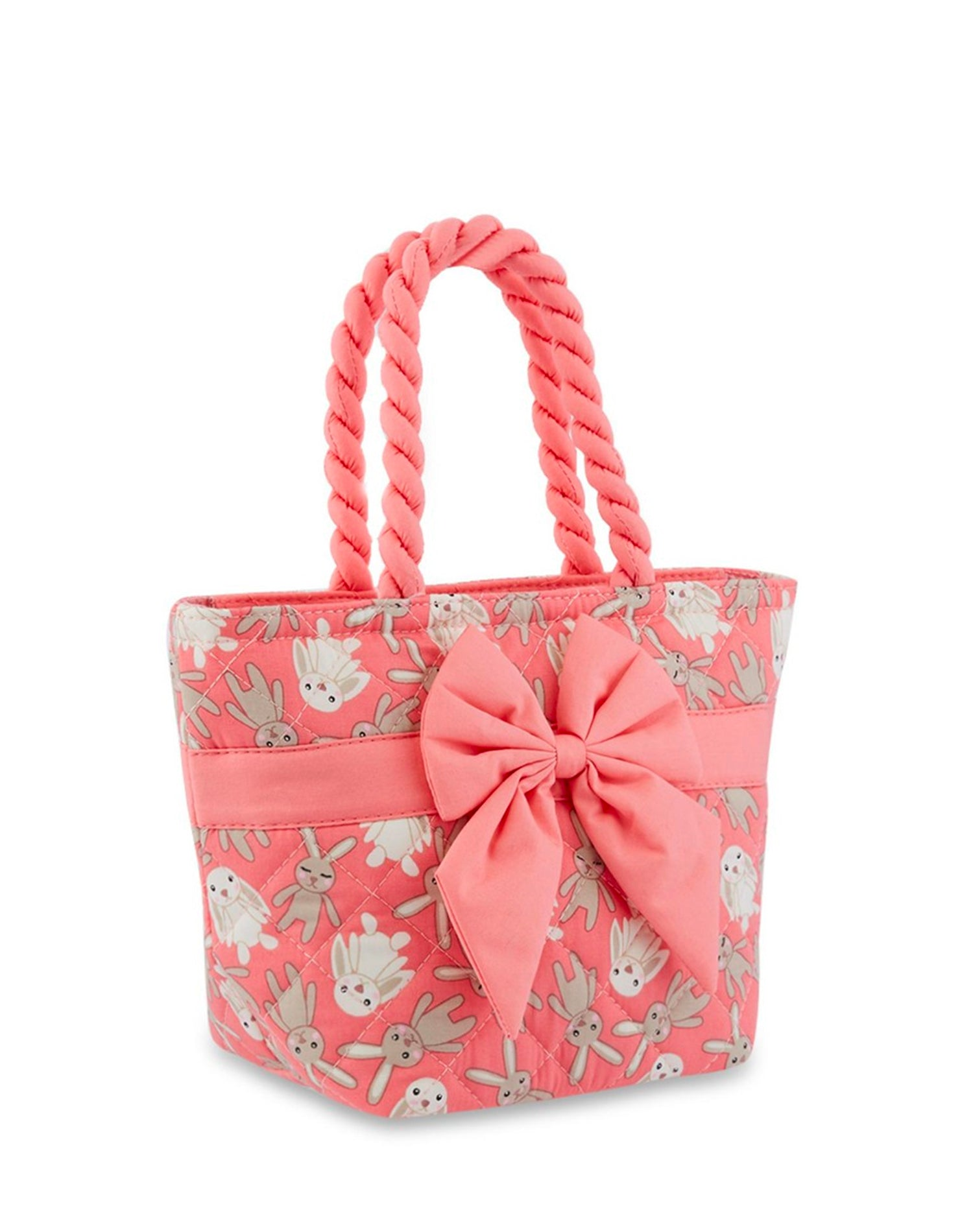 Bunny Printed Cotton Handbag.兔子棉布手提包