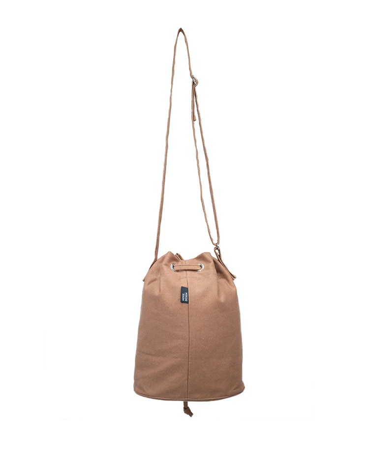 Handmade Brown Canvas Bucket Bag.啡色帆布水桶袋