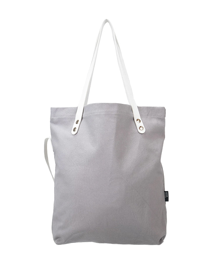 Handmade Grey Signature Tote Bag.灰色手提袋