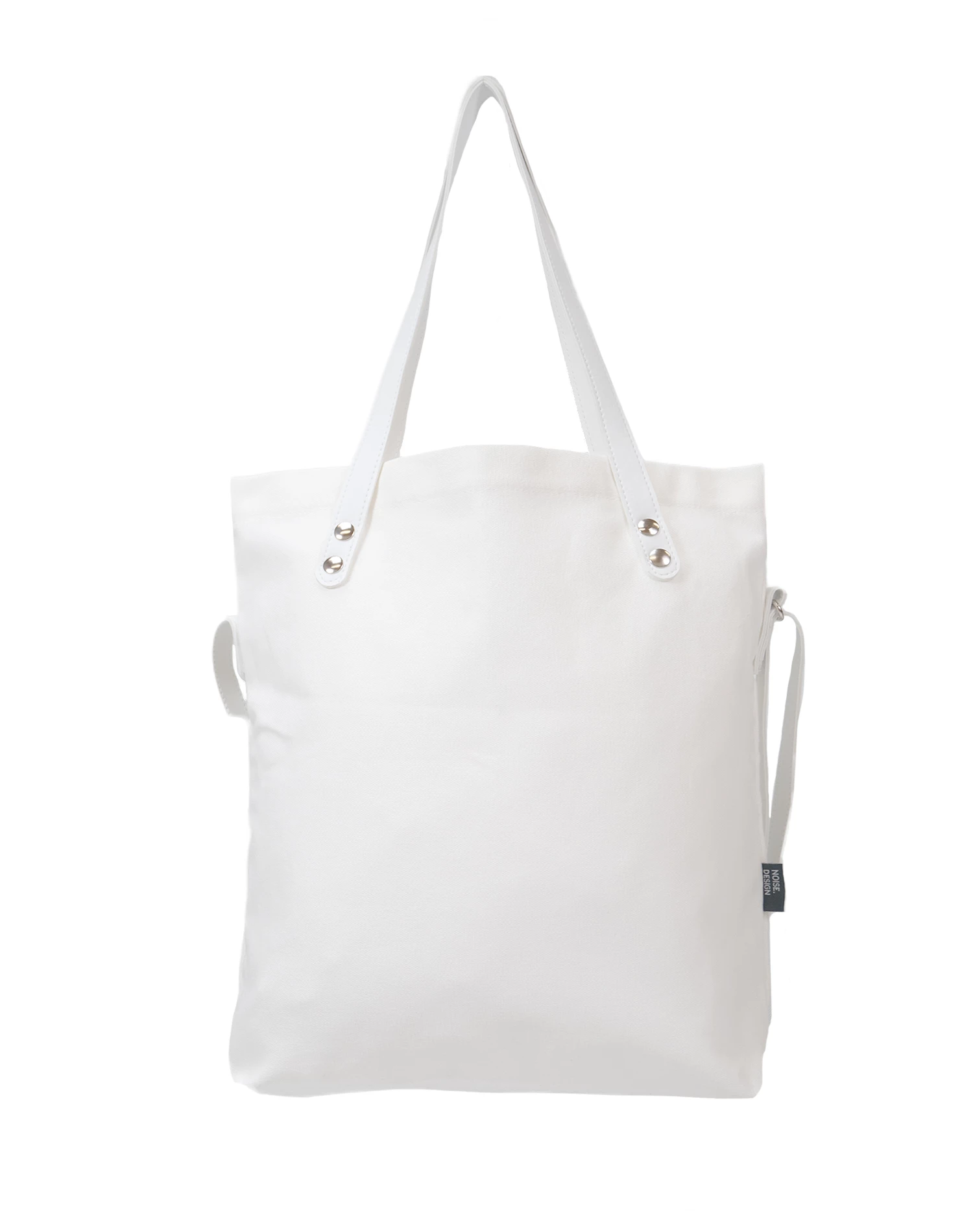 Handmade White Signature Tote Bag.白色手提袋