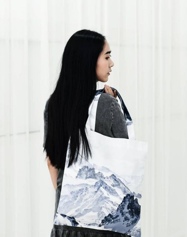 Japanese Mountains Canvas Tote Bag.日式山脈帆布手提袋