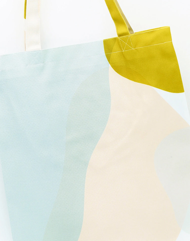 Pale Overlap Canvas Tote Bag.簡約拼色帆布側背袋