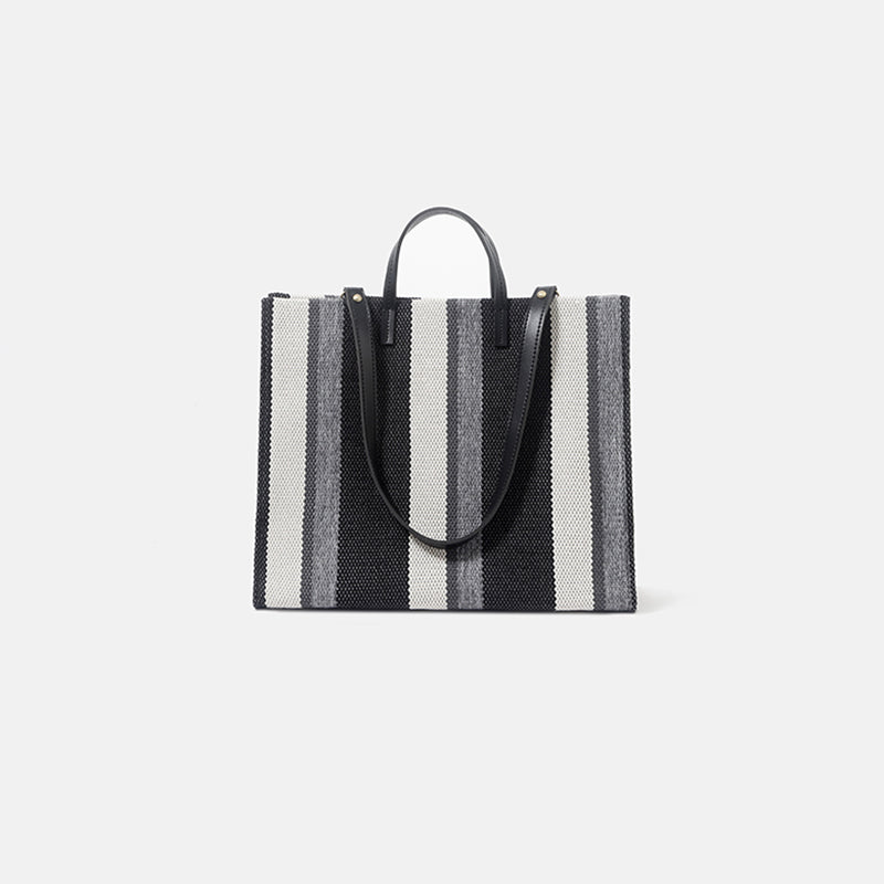 Minimal Strip Handbag.簡約間條手提袋