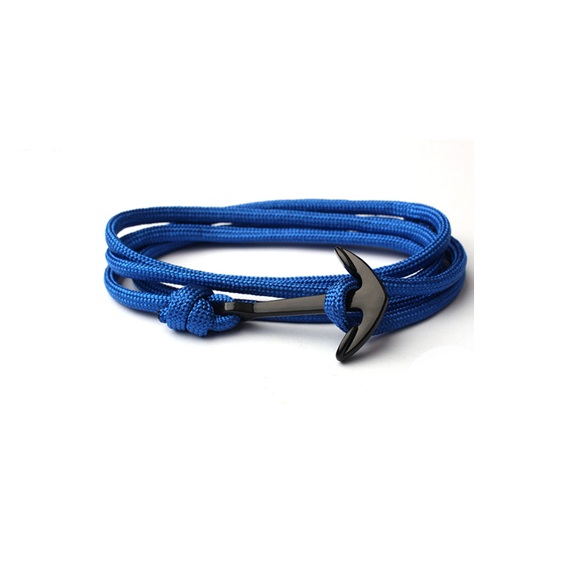 Simple Anchor Handmade Rope Bracelet.簡約船錨創意手工編織手繩