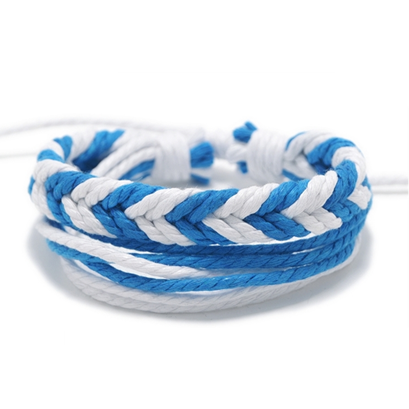 Stylish Knitting Handmade Rope Bracelet.型格手工編織手繩