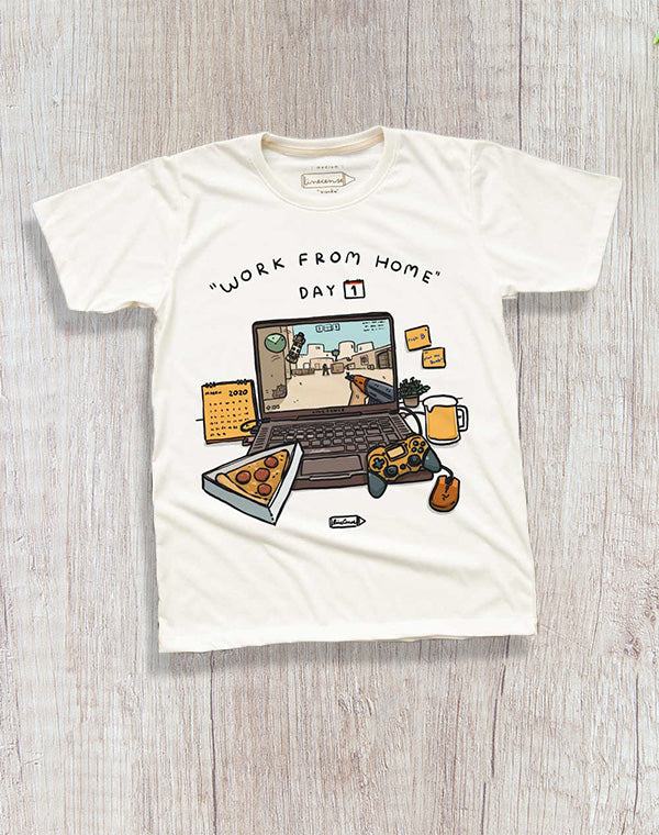 Work from home Gaming T-Shirt.扮工系列之打機短袖T恤