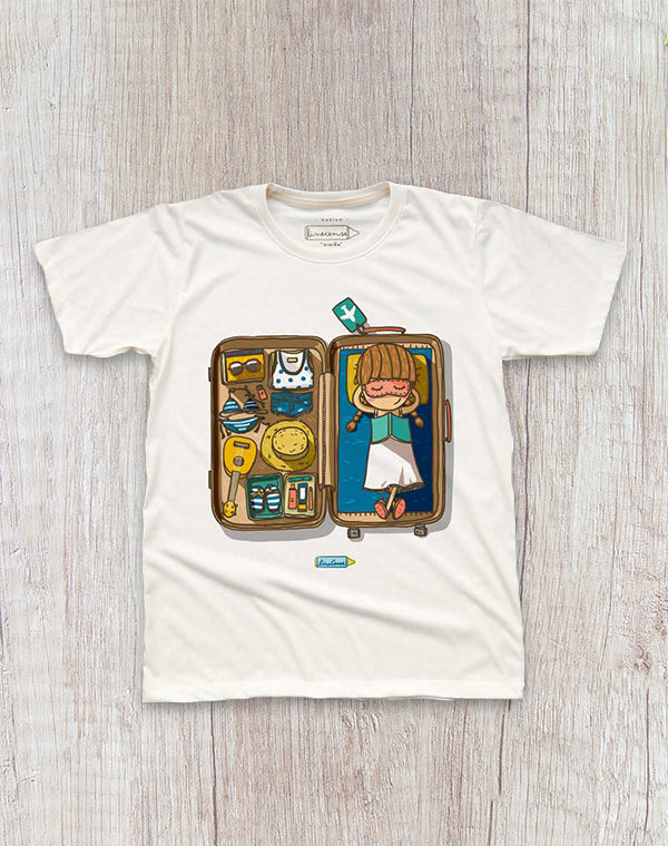 Travel Girl T-Shirt.愛旅行女短袖T恤