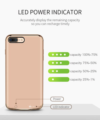 2500Mah/3500Mah Battery Charger Case