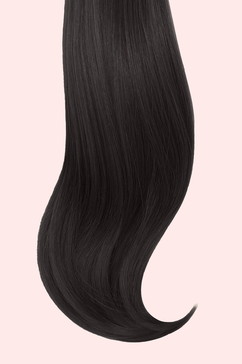 120 grams 18 inch Clip-In Extensions #1b - GOSSIP HAIR