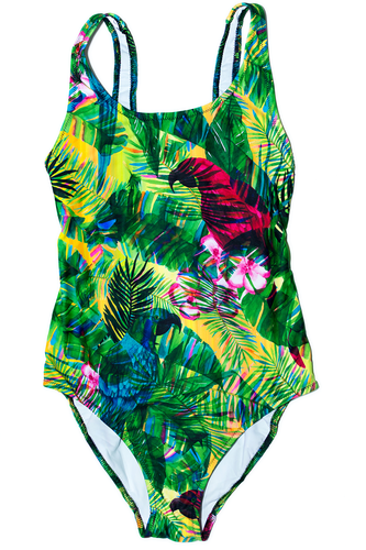 Tropical Print - One-Piece Swimsuit