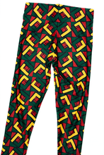 Load image into Gallery viewer, African Pattern Rasta Colors Leggings