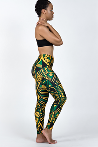 Tribal Patterns - Jamaica Colors Leggings