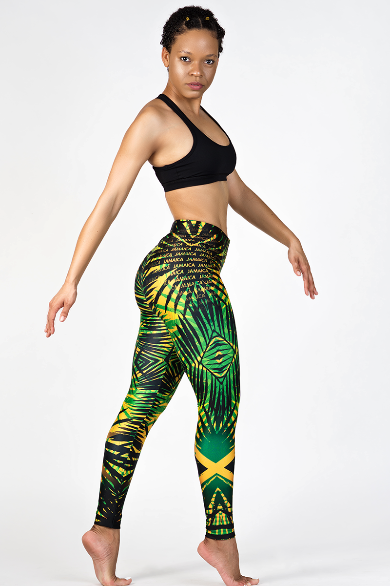 Tropical Mix Jamaica Colors Leggings
