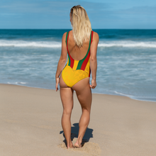 Load image into Gallery viewer, Rasta Striped One-Piece Swimsuit