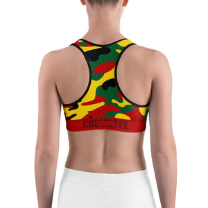 Rasta Colors Camo Sports Bra