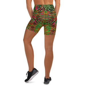 Tropical Mix Animal Print Yoga Shorts