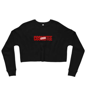 COSMOTEE Logo Print Women's Fleece Crop Sweatshirt
