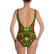 Load image into Gallery viewer, Aztec Navajo Pattern - One-Piece Swimsuit