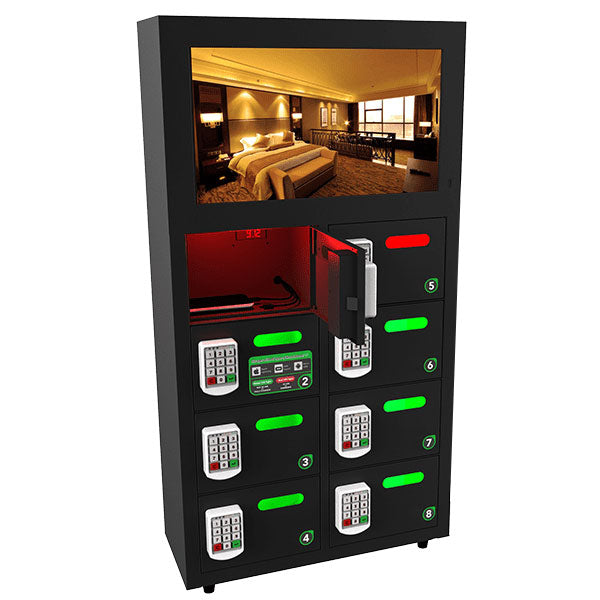 OREAD 8 Bay Video Charging Locker $variant_title Pagertec