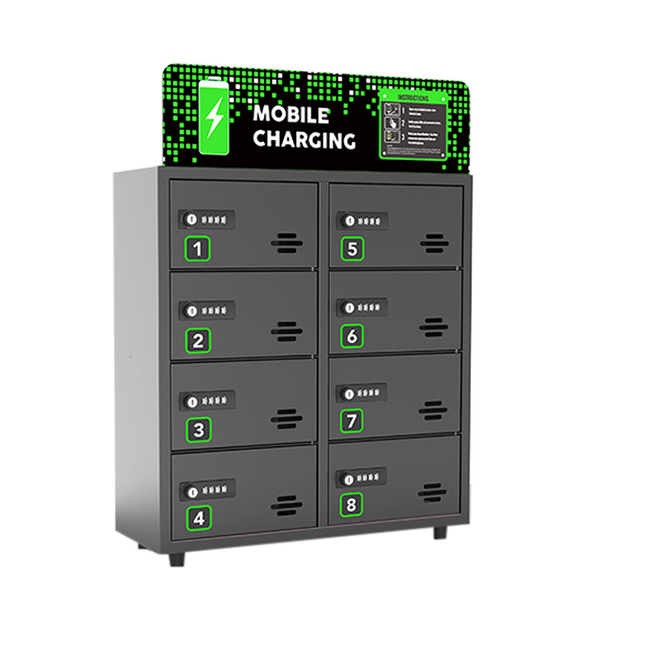 Omo 8 Bay Cell Phone Charging Locker $variant_title Pagertec